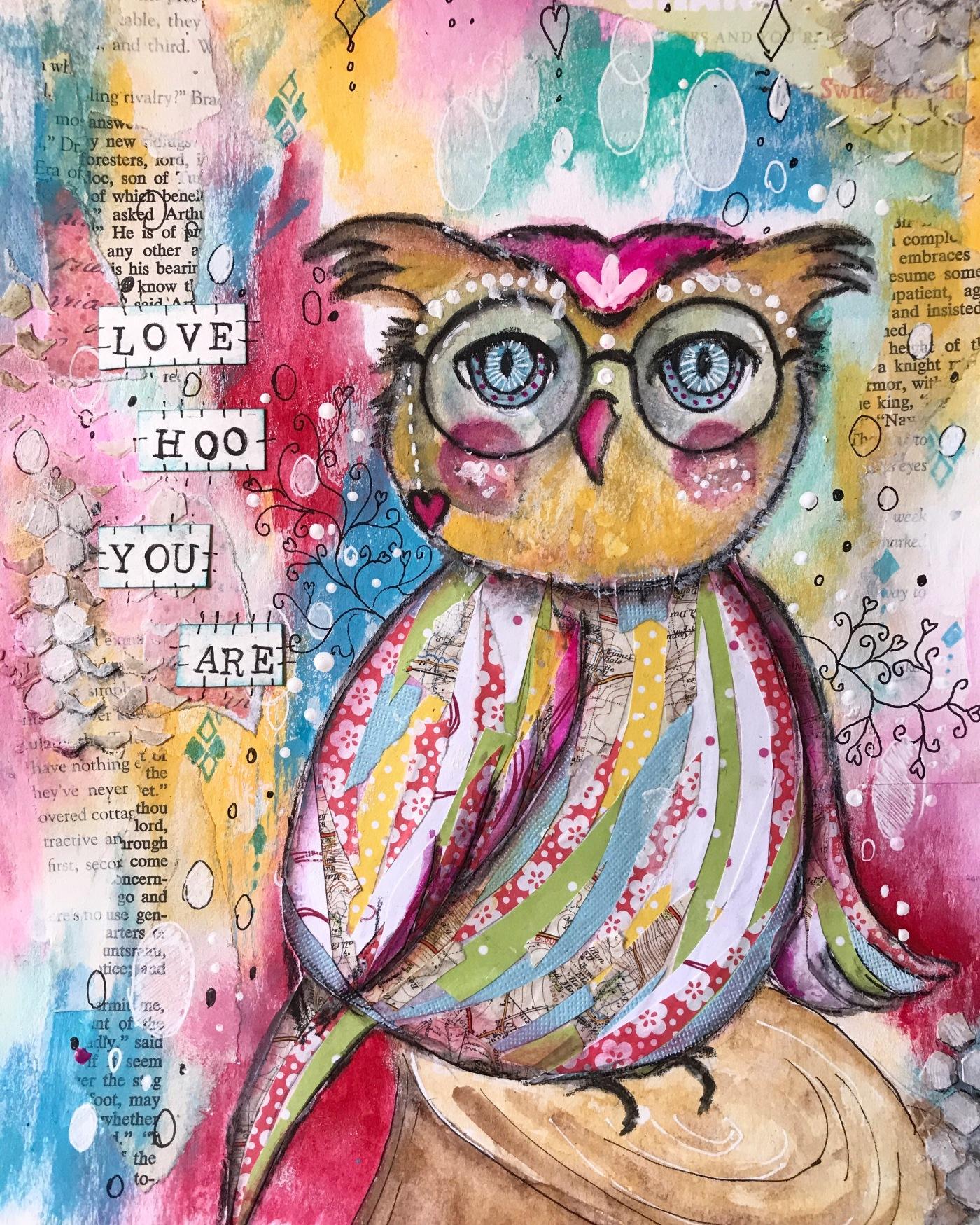 Love HOO you are – justpaintandplay
